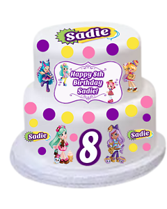 Image Is Loading Shopkins SHOPPIES Edible Personalized DIY CAKE KIT