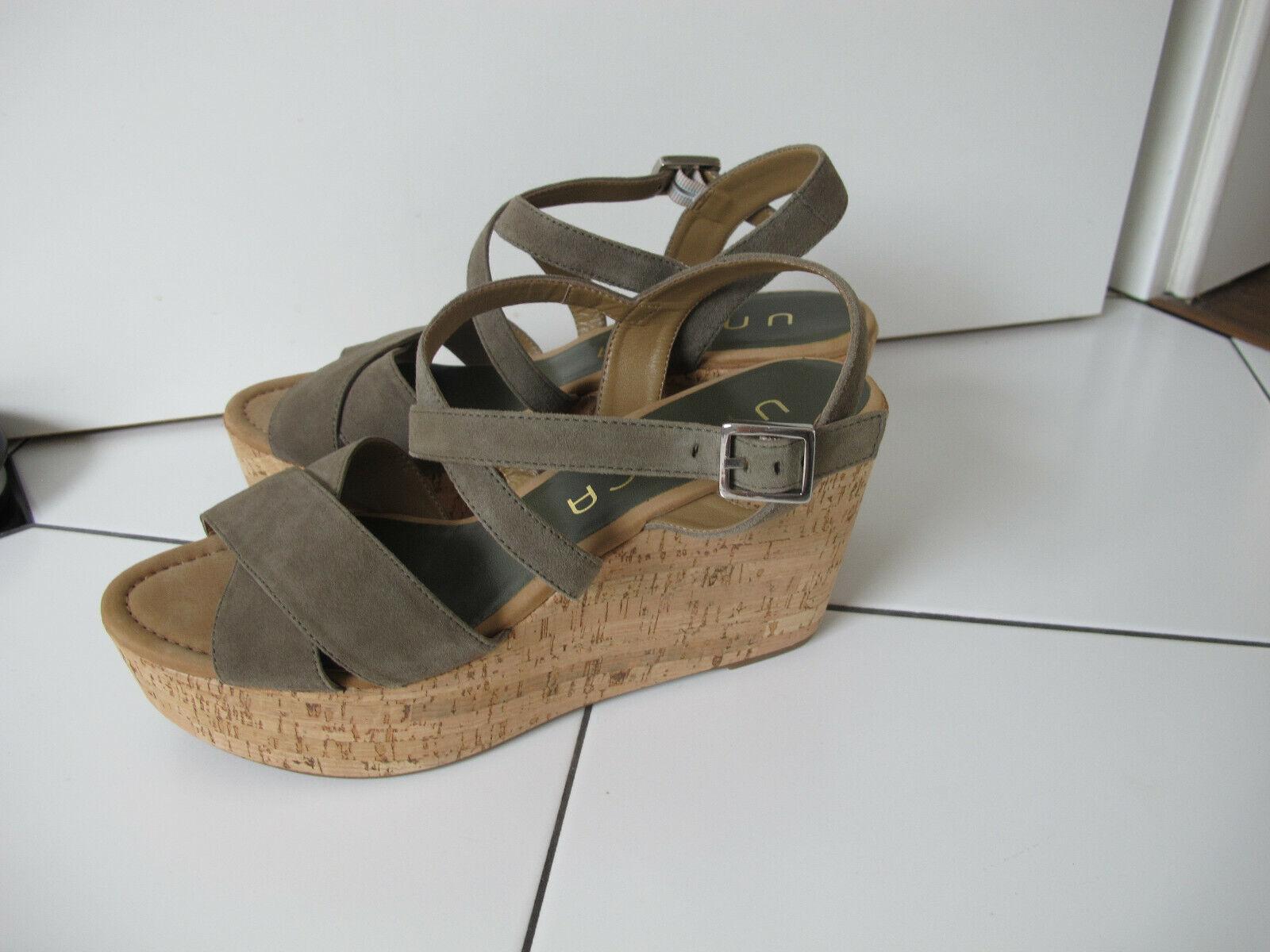TOP UNISA Damen Schuhe Gr.41 Sandalen Plateau  Leder Sandalette