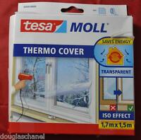 Tesa 05430 Isolierfolie Fensterfolie Thermo Cover Tesamoll 1,7 Meter x 1,5 Meter