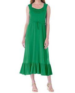 Details about Plus Size Kelly Green Sleeveless Crochet Flounce Hem Dress  Size 4X(34W/36W)