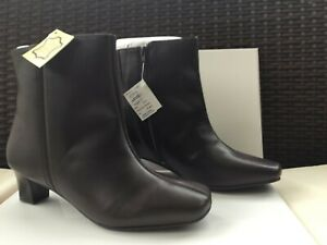 the best attitude 08bb9 b2379 Details about Oxendales Women's Leather Ankle Boots. Ultra Wide EEEEE Dark  Brown BNIB Size 4