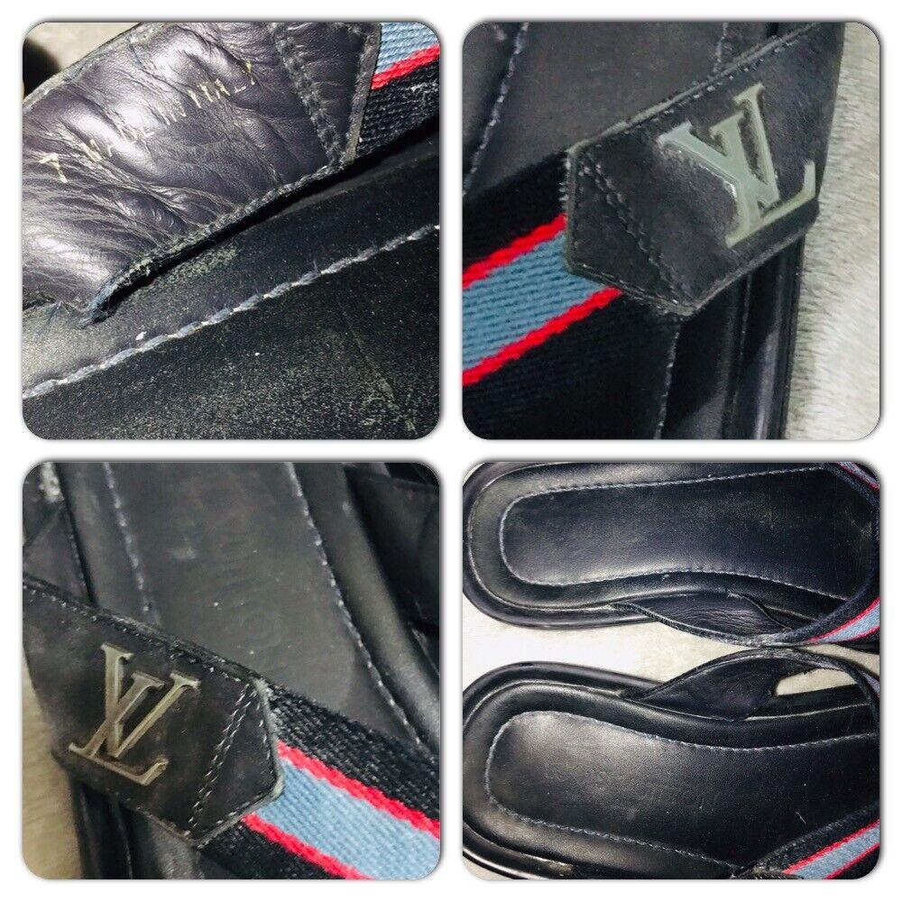 Louis Vuitton leather Canvas Men's Sandals Size 7 - image 7