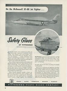 1949-Pittsburgh-Plate-Glass-Ad-McDonnell-Aircraft-XF-88-Jet-Fighter-Aviation