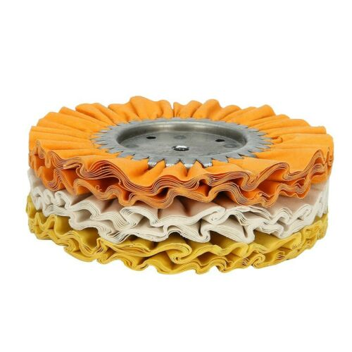 """8/"""" Mill Treated Airway Buffing Wheel 3/"""" Center Plate 5//8/"""" Arbor US SHIP 3 Pack"""