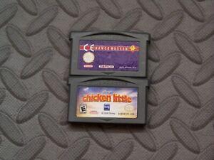 Lot Nintendo Game Boy Advance GBA Games Namco MuseumCE + Disney's Chicken Little