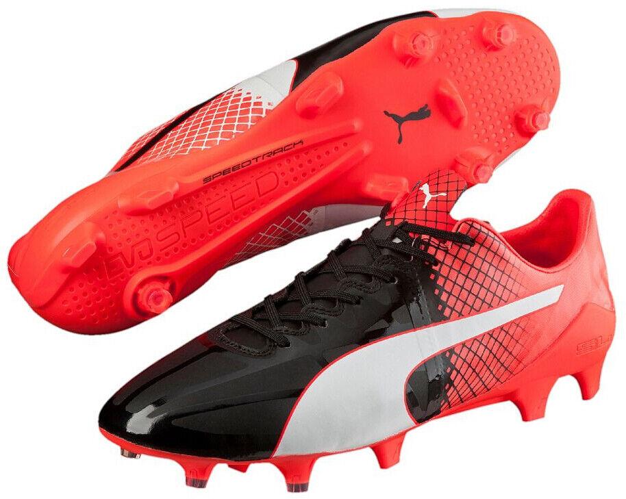 Puma evoSpeed 1.5 Firm Ground Mens Football Boots - Black