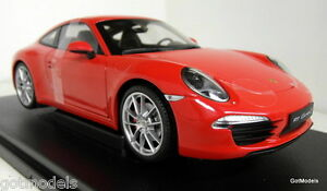 Nex-models-1-18-Scale-18047W-Porsche-911-991-Carrera-S-Red-diecast-model-car