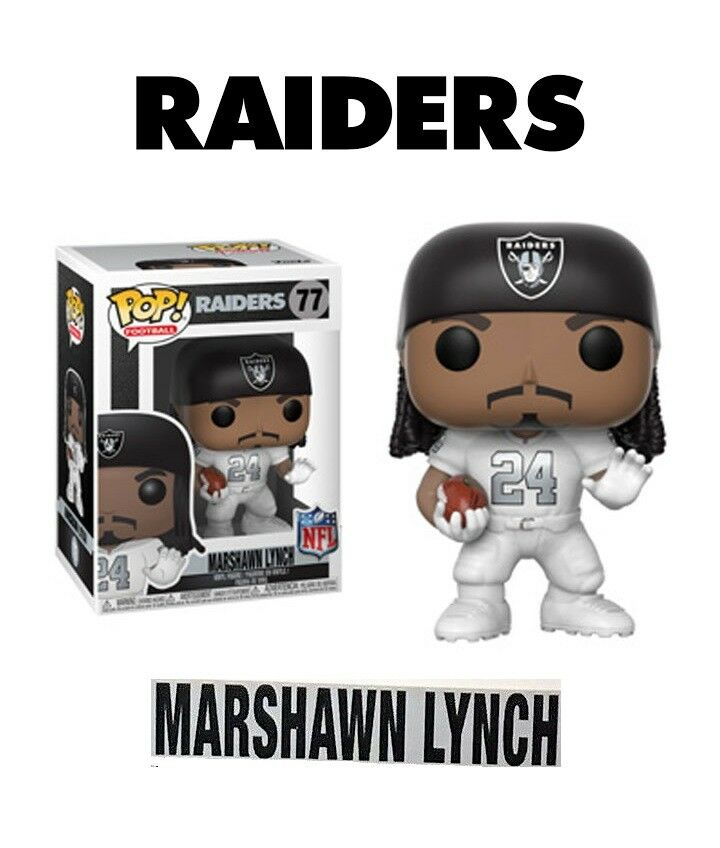 Funko Pop NFL Fútbol - Raiders - Marshawn Lynch color Rush - Figura Nuevo   Rara