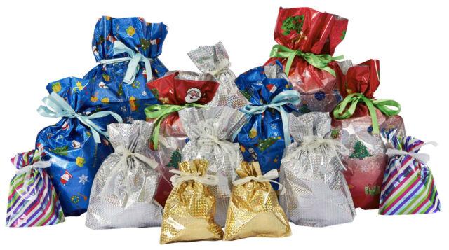 Giftmate X30 Large Christmas Set Drawstring Gift Wring Giftbags 5 U