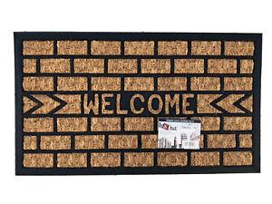 Zerbino COCCO LEGGERO bordatura con gomma antiscivolo ingresso resistente 40x70