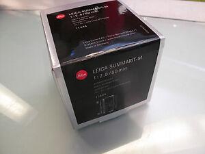 LEICA-50-MM-F-2-5-SUMMARIT-M-ELOXIERT-BLACK-NEU-IN-BOX
