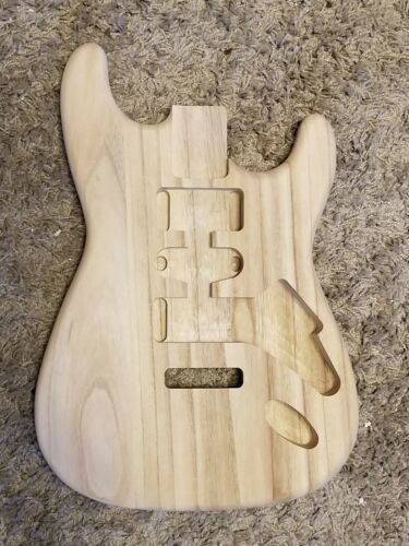 FOUR UNFINISHED Paulownia DIY  STRAT style ELECTRIC  GUITAR BODIES