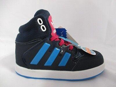 Infant Adidas Dropstep ELI Hi Tops Navy/Sole Blue/Pink M17211 Various UK Sizes