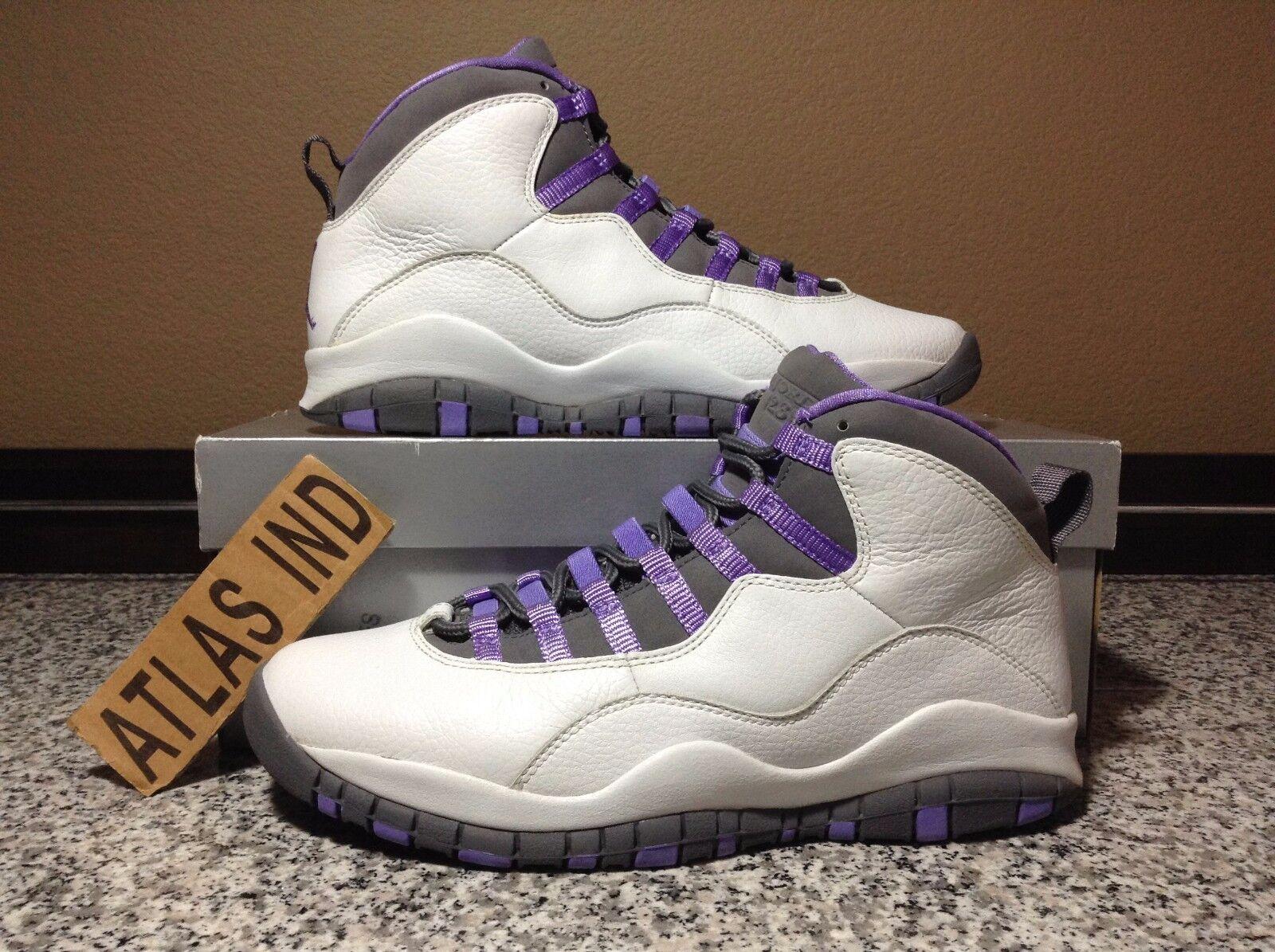 AIR JORDAN 10 RETRO Violet White Purple Nike X 1 3 4 5 6 7 11 12 OVO DB 2005 9.5