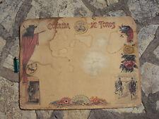 Carton peint aquarelle corrida de toros