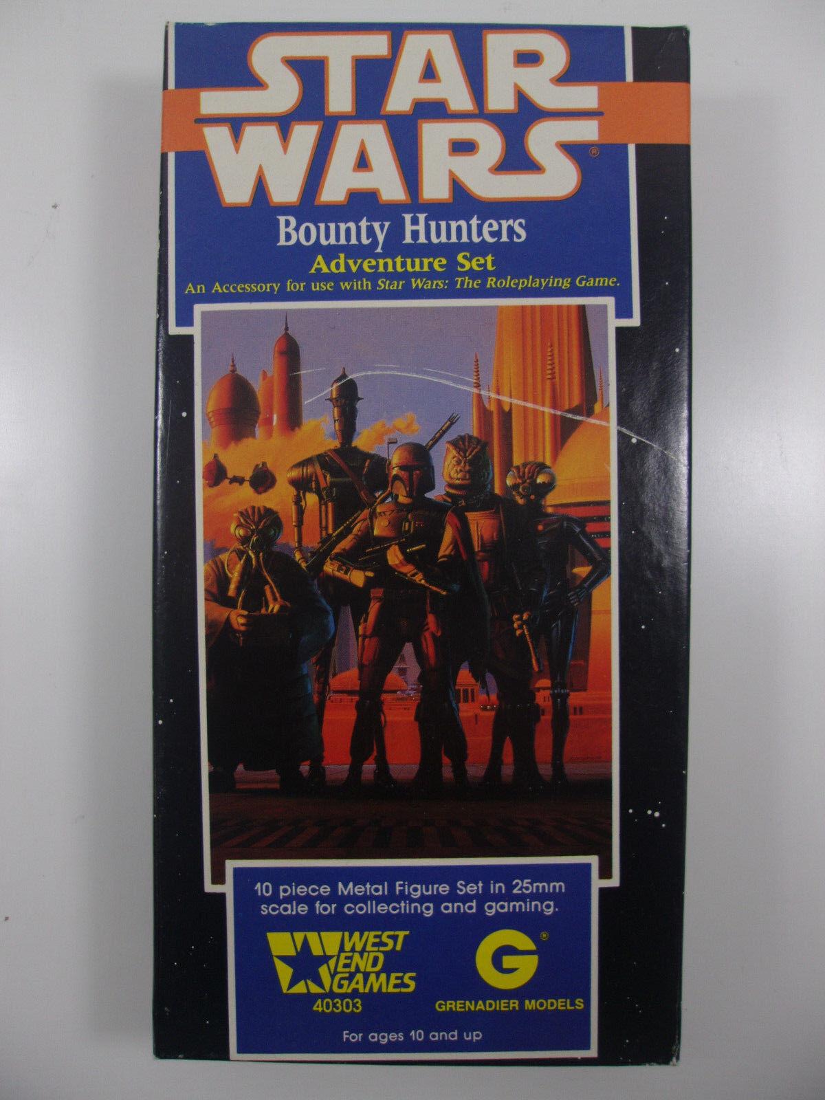 West End Juegos Estrella Wars Metal Miniatures 25mm cazadores de recompensas 10 piezas de este conjunto 40303