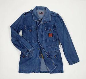 Bolthon-Cassidy-jacket-jeans-uomo-usato-S-tg-44-W30-denim-vintage-giacca-T5461