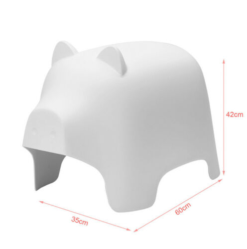 SoBuy Tierhocker Kindehocker Kinderstuhl in Schweindesign Cartoon Weiß KMB14-W