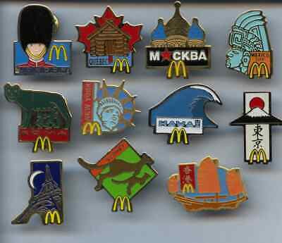 11 RARE PINS PIN/'S . CITIES OF WORLD VINTAGE SET ~US MC DONALD/'S FRANCE 1992