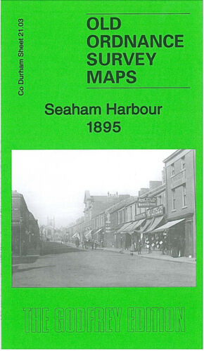 OLD ORDNANCE SURVEY MAP SEAHAM HARBOUR 1895 SEAHAM COLLIERY NEW SEAHAM