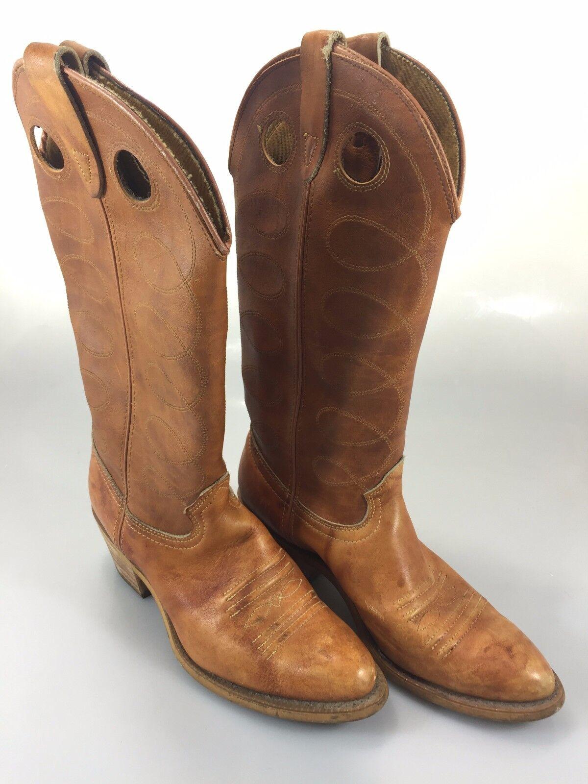 Texas Brand damen 7.5M Cowboy Stiefel braun 14.75  high Made in USA