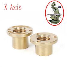 2pcs 32mm Milling Machine Tools Longitudinal Brass Feed Nut X Axis Copper Sleeve