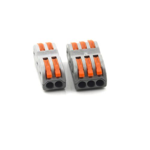 10x Elektrische Verkabelungsklemmen Kabelschnellverbinder Lampenlaternen Klem gs