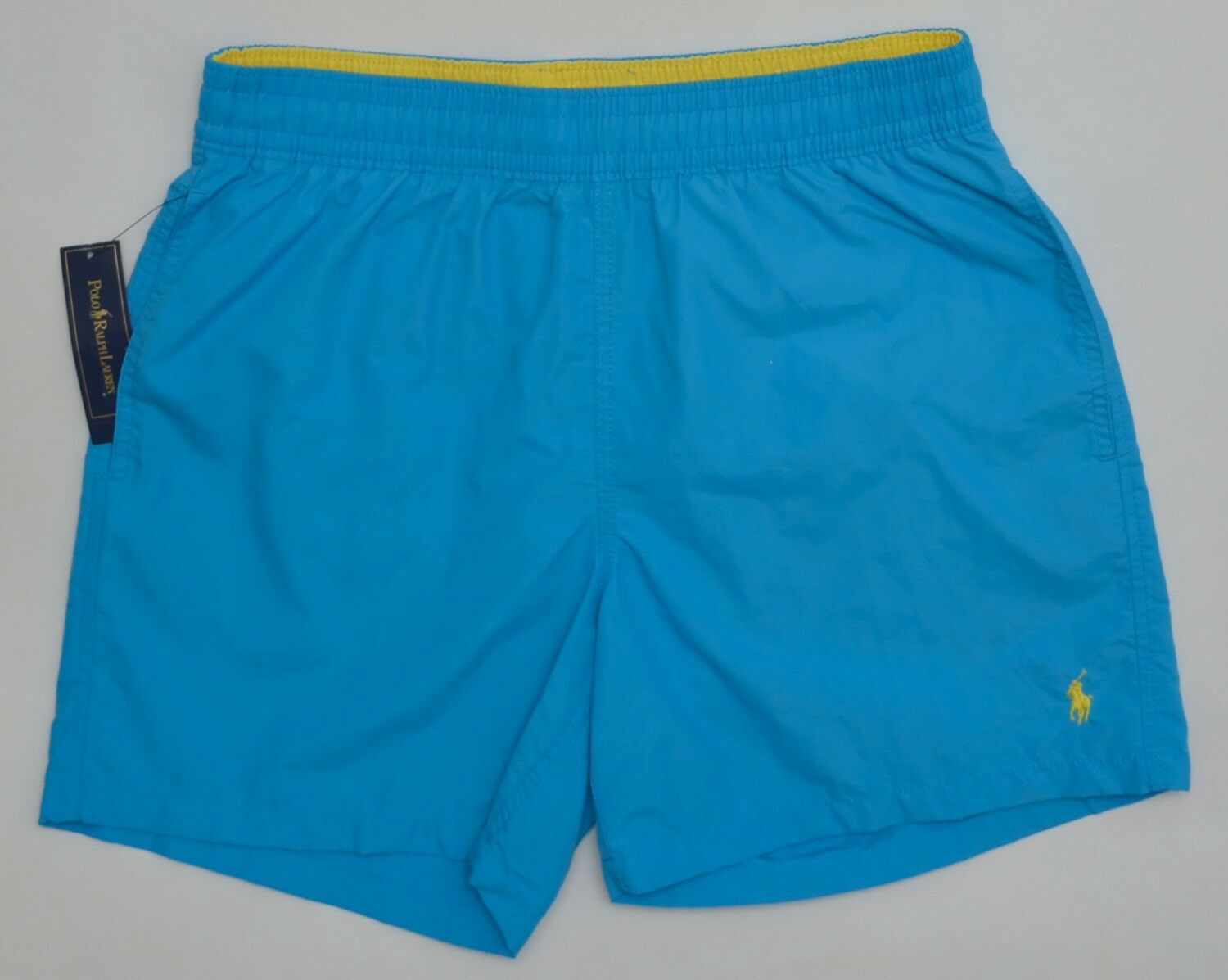 Men's POLO RALPH LAUREN Teal bluee Swimsuit Trunks Extra Large XL NWT NEW Nice