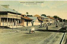 CARTE POSTALE / / CONAKRY / GUINEE FRANCAISE / RUE COMMERCIALE