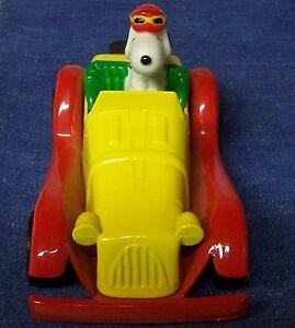 """Snoopy Car Morgan Snoopy Antique NO Box THE Bird's Gone 5"""" SNOOPY British MORGAN"""