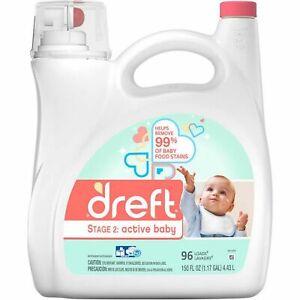 Dreft-Ultra-Hypoallergenic-Stage-2-Active-Baby-Laundry-Detergent-150-fl-oz