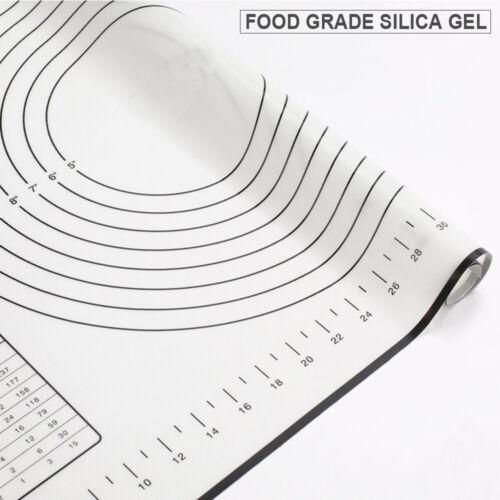 60x40cm Ausrollmatte Backmatte Silikon Fondant Rollmatte Teigmatte Teigunterlage