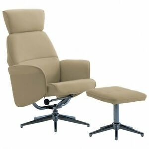 Fauteuil inclinable avec repose-pied Cappuccino Similicuir