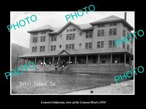OLD-LARGE-HISTORIC-PHOTO-OF-CEMENT-CALIFORNIA-VIEW-OF-THE-CEMENT-HOTEL-c1910