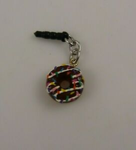 chocolate-frosted-Donut-sprinkles-cell-phone-or-Ipad-charm-ear-cap-dust-plug