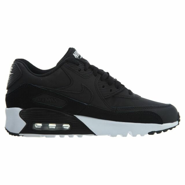 Nike Air Max 90 Ltr Big Kids 833412 014 Black White Athletic Shoes Youth Size 4