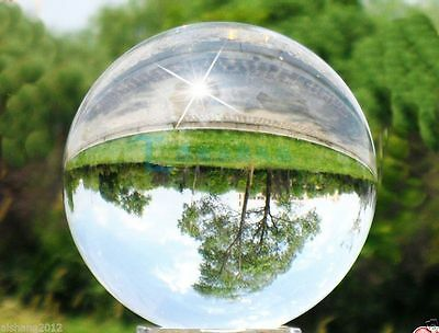 100mm 80mm 60mm 40mm Asian Rare Natural Quartz Clear Magic Crystal Healing Ball