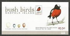 Norfolk Island 2009 Local Birds complete bklt--Attractive Topical (986) MNH