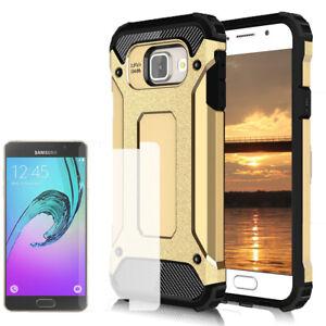 Duro-Case-per-Samsung-Galaxy-A5-2017-Rigida-Cover-TPU-Custodia-Cellulare-Oro