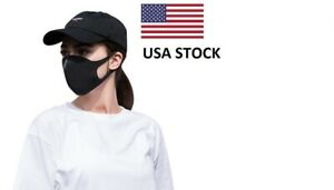 Reusable-Washable-Black-Cloth-Face-Mask-Anti-Spit-Sneeze-Cough-USA-STOCK