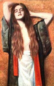 """perfect 24x36 oil painting handpainted on canvas """"A beautiful girl""""N4570"""