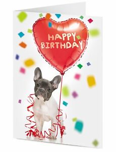 French bulldog puppy dog with heart shaped happy birthday balloon image is loading french bulldog puppy dog with heart shaped happy m4hsunfo