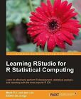 Learning RStudio for R Statistical Computing by Mark van der Loo, Edwin de Jonge (Paperback, 2012)