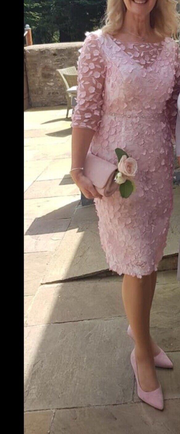 Irresistible by Veromia Mother of Bride/Groom Wedding Dress Pale Rose Pink 12