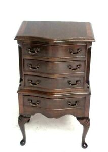 Vintage-Queen-Anne-Style-Mahogany-Chest-of-Drawers-Commode-6497