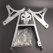 Skull Backrest Sissy Bar Pad For Harley Davidson Softail FLSTC FLSTF FLSTN Chrom