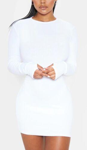 Femme en jersey à manches longues Pouce trou Robe Moulante