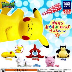 Takara Pokemon Goodnight Friends Sun Moon Figure Vol 2 Set Of 5 Ebay