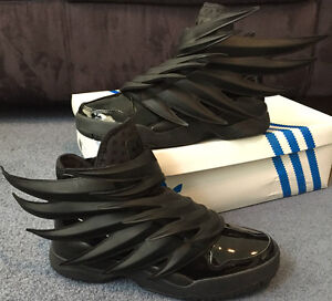 1b963a41da89 DS 100% AUTHENTIC ADIDAS JEREMY SCOTT WINGS 3.0 BLACK BATMAN HU NMD ...