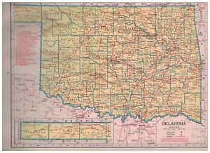 1942-Railroad-Map-of-Oklahoma-With-A-Railroad-Map-of-Oregon-On-The-Reverse